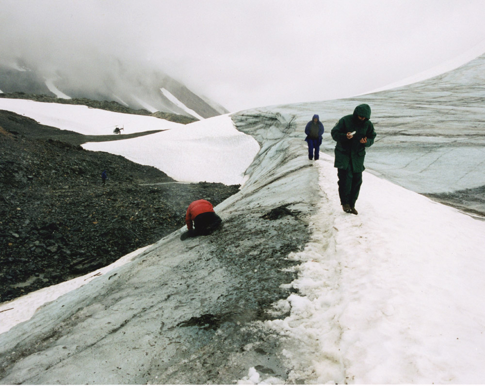 View of the glacial edge high in the Tatsenshini where Kwäday Dän Ts'ìnchi was found in 1999Al Mackie