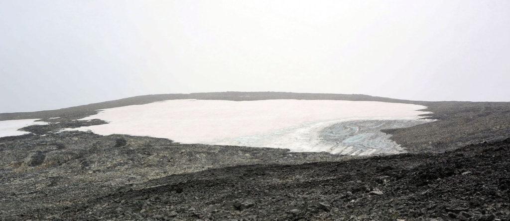 A melting ice patch