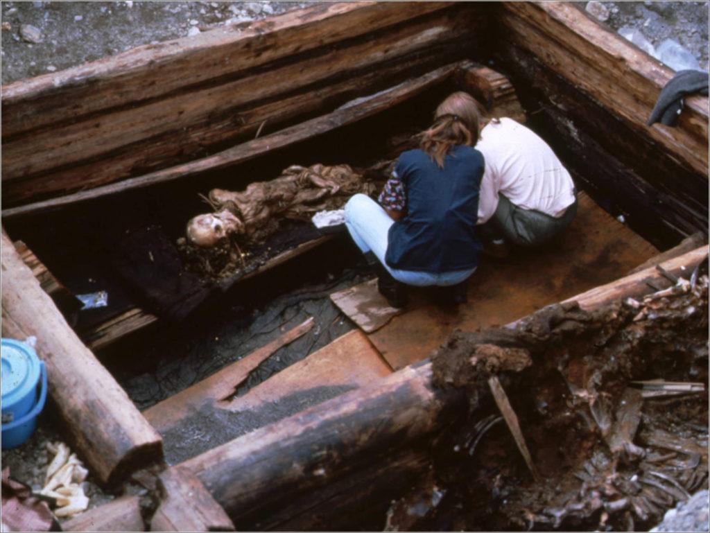 Velbevaret grav fra Pazyryk-kulturen