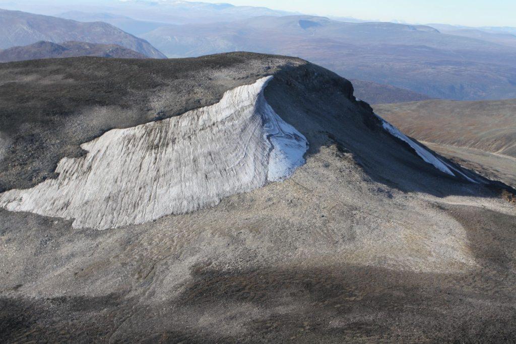 Klimaendring - avsmeltingen på Storfonne i Jotunheimen