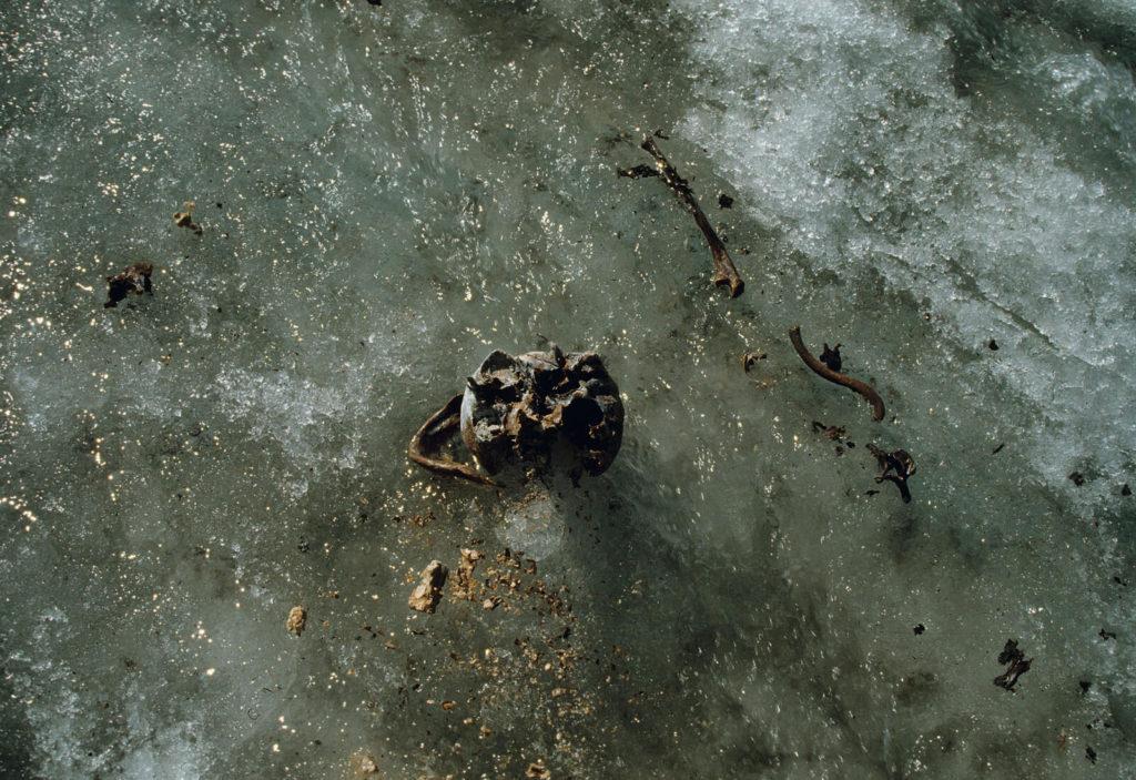 Kvinnen fra Porchabella-gletsjeren.