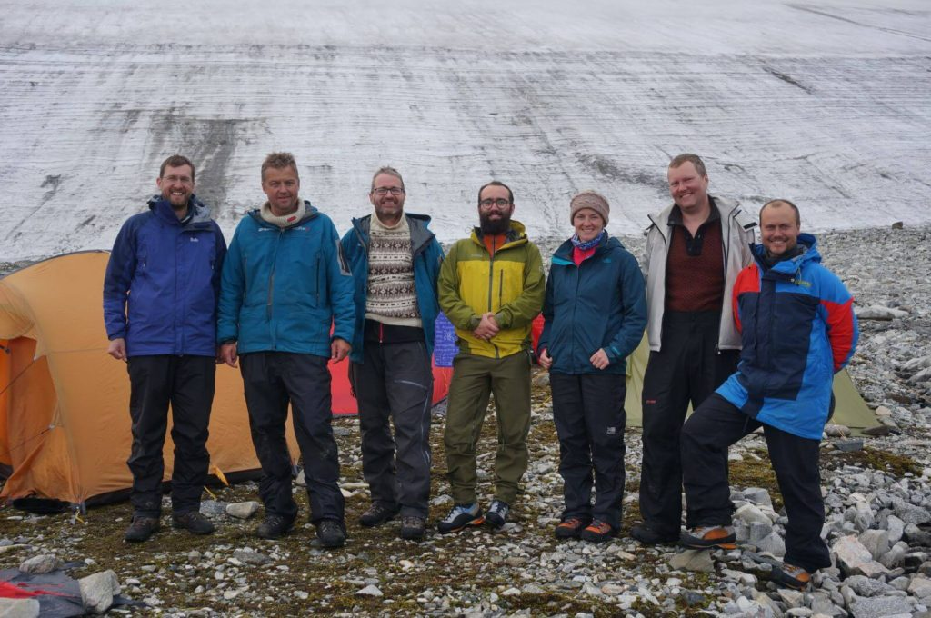 Participants in the 2014 glacier archaeology fieldwork in Oppland