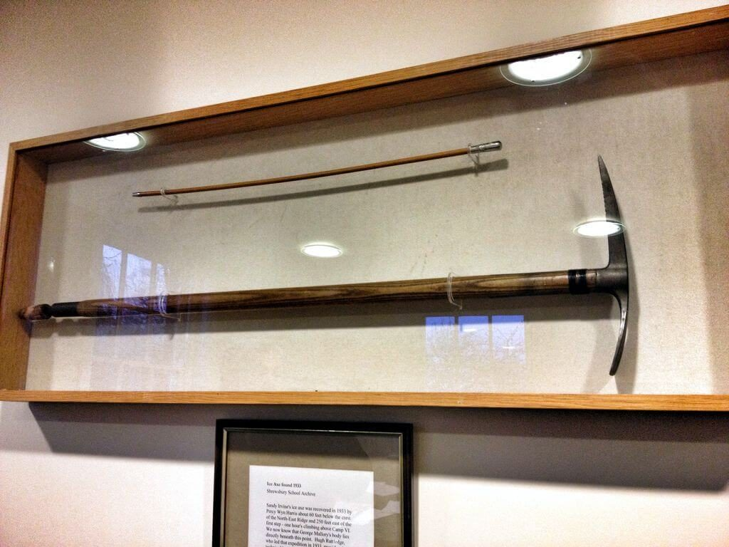 Irvine's ice axe