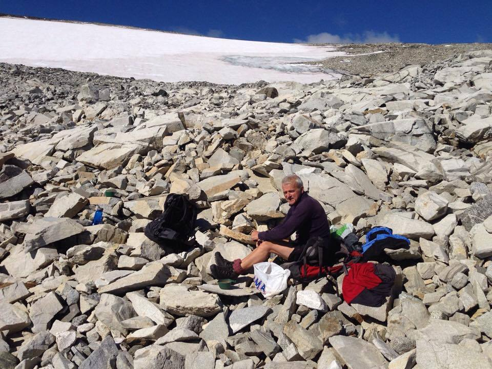 Reidar Marstein enjoying a coffee break during a pre-season visit to our secret arrow site.