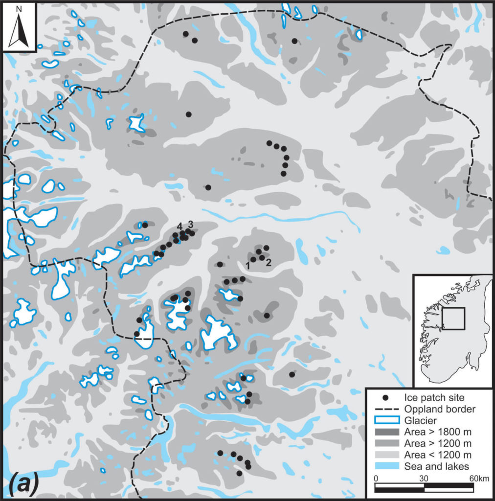 Map of ice sites