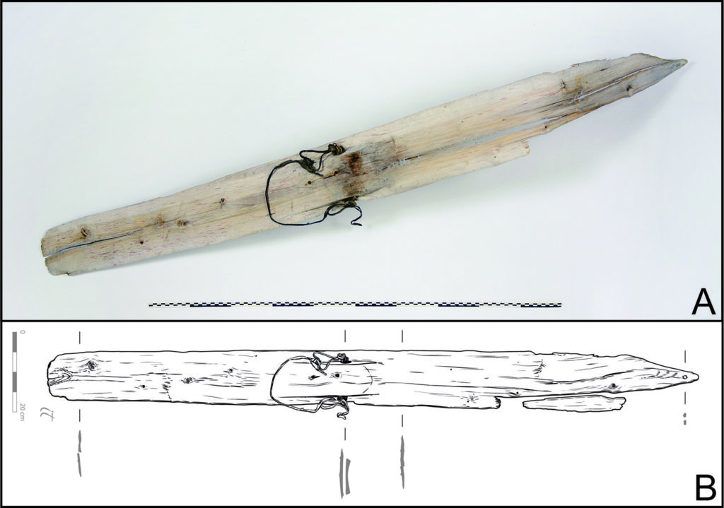 Photo and drawing of the Digervarden ski.