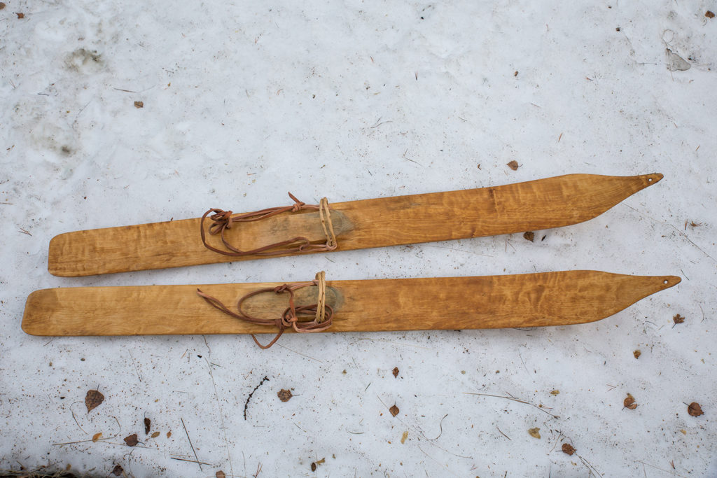 Replica pair of the Digervarden ski.