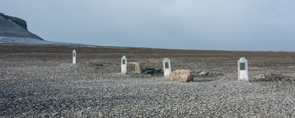 The cemetery on Beechey Island.