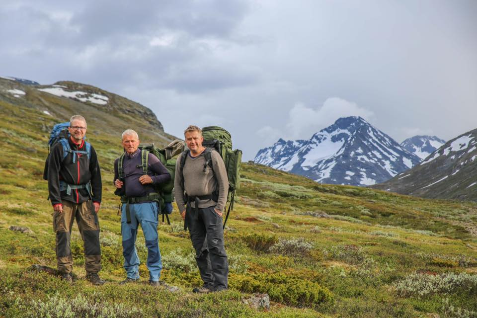 Espen and two other members from Secrets of the Ice, getting ready to explore a mountains route crossing a glacier.