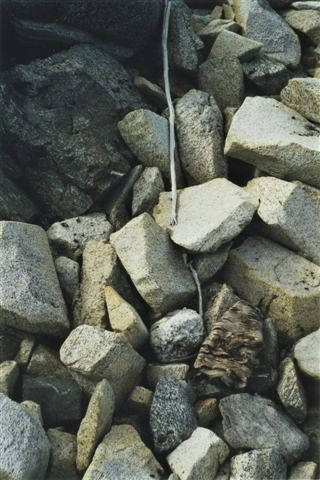 Picture of the first scaring stick that melted out in 2002.