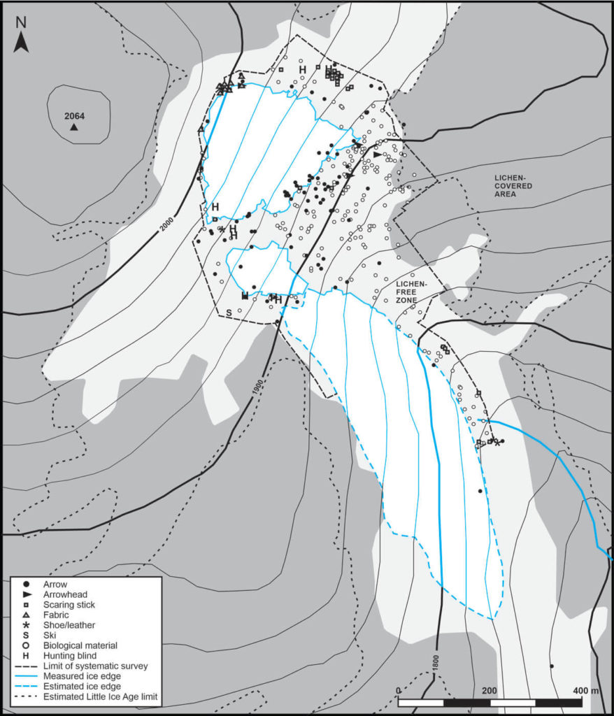 A map showing where all the finds were made.