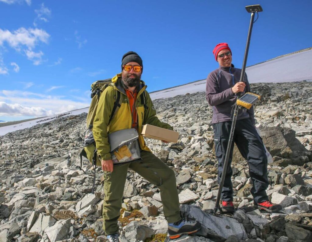 Julian and Øystein - the finds team in 2016.